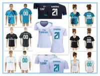 Wholesale Blank Black Football Jersey - Top Quality Thai 21 Borja Mayoral 00 Any Name Custom Blank White Black Blue Men's&Women's football soccer jersey shirts Kit Club 2017