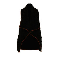 Wholesale Sheep S Wool - New Fashion Style None Sleeve Cotton Wool Coat Irregular Cotton Hem Casual fur sheep leather coat Winter