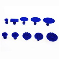 Wholesale dent hammer - Automotive Paintless Dent Repair Tools Kit Mini Silde Hammer T-bar + 10 Different Size Glue Tabs for Car Dent Removal