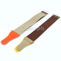 Wholesale Razor Sharpening Strop - 1pcs Canvas Leather Sharpening Strop for Barber Open Straight Razor Sharpening Shave