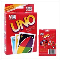 Wholesale Card Board Boxes Wholesale - Stock Hight Quality UNO Poker Card Standard Edition Family Fun Entertainment Board Game Kids Funny Puzzle Game 120PCS BOX FREE DHL