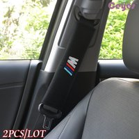 almohadillas x5 al por mayor-Cubierta del cinturón de seguridad para bmw e70 x5 e82 e92 e93 m3 x1 e87 e46 Cubierta del cinturón de seguridad Hombrera Accesorios para el coche 2PCS / LOT