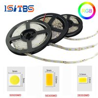 Wholesale 12v Leds Strips - 5M 5050 2835 5630 Led Strips Light Warm White Red Green Blue RGB Flexible 5M Roll 300 Leds 12V outdoor Ribbon Waterproof