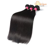 Barato Top Queen Weave-Top Selling Brazilian Virgin Hair Straits Top Extensions 3 pcs / lot 7A Brazilian Straight Dyeable 100% cabelo humano tecendo Gaga Queen Hair