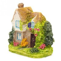 Wholesale Eco Fiber - Mini Fairy Garden Miniature Resin Thatched House Micro Landscape Ornament Decor