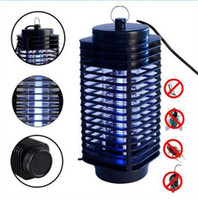 Wholesale mosquito night light - Electronic Mosquito Killer Electronic Insect Killer Bug Zapper Trap Photocatalyst Fly Zapper UV Night Light Trap Lamp CCA6559 10pcs