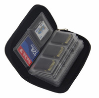 Wholesale Memory Card Case Protector Box - 5 colors SDHC MMC CF For Memory Card Micro SD Card Storage Carrying Pouch bag Box Case Holder Protector Wallet for Memory card