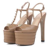 9b75c8e6f23452 Wholesale platform tie shoes online - New Arrival Platform Gladiator Sandals  Woman Open Toe Rivet Lion