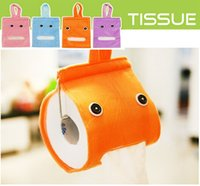 Wholesale Genius Home - Wholesale- 6 Color Plush Genius Toilet Roll Paper Tissue Box Holder Lovely Home Bathroom Hanging Napkin Case