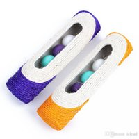 Pet Cat Toy Rolling Sisal Scratching Post 3 Trapped Ball Training 3 Couleur Orange Blue Pink Envoi aléatoire A434