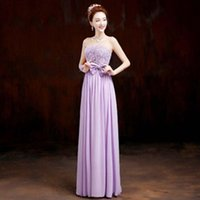 Wholesale Dessy Bridesmaid Chiffon - most popular lilac 2017 new arrival formal xs bridesmades dresses princess elegant dessy bridesmaid dress for wedding H1976