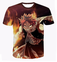 Wholesale Mens Tails - Wholesale- Mens Harajuku tee shirts Classic Anime Fairy Tail T-shirts Hipster 3D t shirt Etherious Natsu Dragneel Characters t shirts tees