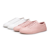 Wholesale Pink Rubber Fit - Common Projects White Shoes for Men Best Version 1:1 Women Casual Shoes pink Leather Low Flats Shoes Lace Up sneakers Wild Fit