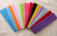 "Wholesale Mixed Color Rubber Band - Solid Color Headbands Stretch Headbands,hair headwraps mix Polyester stretch headbands 2"" x 8"" DROP SHIPPING"