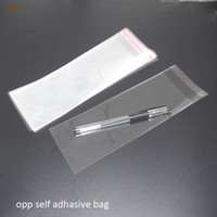 Wholesale Cellophane Clear - 500pcs Clear Resealable BOPP Poly  Cellophane Bag 6x15 cm Transparent OPP gift bags Plastic packaging bags Self Adhesive Seal