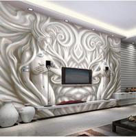 Wholesale Fiberglass Sculpture - 3D European Sculpture Photo Murals Wallpaper for Living Room Bedroom TV Background Wall Art Decor Wall Paper Murals Custom Size