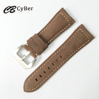 Leather black metal watches for men - Cbcyber men s Watchbands Genuine Leather Brown Men mm mm Soft Watch Band Strap Metal Pin Buckle Accessories