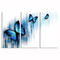 Wholesale canvas prints three panel for sale - Group buy Digital Painting Butterfly Picture Canvas Prints Home Made Canvas Room Decor HD Animal Picture Canvas Wall Decor cmx60cmx3
