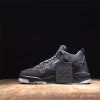 Wholesale Original Brand Shoes For Women - Newest Air Retro 4 Kaws Black Black-Clear-Glow Basketball Shoes For Men Retro Authentic Sneakers Original Brand 2018 Limited Release