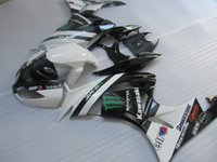 Wholesale Kawasaki Ninja Body Kit Parts - Top selling body parts Fairing kit for Kawasaki Ninja ZX6R 2009 2010 classical white black fairings set ZX6R 09 10 OY24