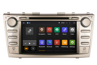 Radio Bluetooth Para Camry Baratos-Android coche DVD GPS de navegación para Toyota Camry 2007 2008 2009 2010 con Radio USB USB WiFi MP3 Stereo Video 4Core o 8Core