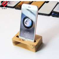 Wholesale amplifier voice speaker - Portable Bamboo Wood Speakers for iPhone Apple Universal Play Music Small Sound Voice Amplifier Mini Holder Lazy Cell Phone Stand Station