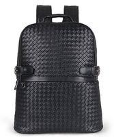Wholesale School Bag Handmade - Judyfashion 100% Real Sheepskin handmade Knitting backpack Fashion Design Genuine Leather Bolsa feminina Shoulder Bag school bag