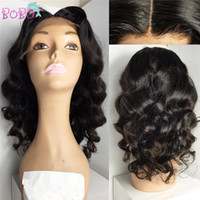 Wholesale Pre plucked Full Lace Human Hair Wig for Black Women wave human hair wig Glueless Full lace wigs Lace Front Wig TOP quality