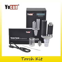 Wholesale Dual Coil Ecig - Authentic Yocan Torch Vaporizer Kit Wax Pen With Quartz Dual Coil Portable Wax Pen and Dry Herb Ecig Kits 100% Original 2204027