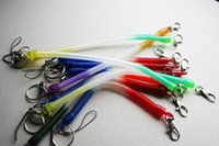 Wholesale male ball stretch for sale - Group buy Spring stretched elastic rope anti lost phone chain key ring with a key ring male creative Ms