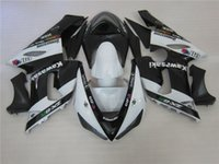 Wholesale Kawasaki 636 Fairings Set - New ABS motorcycle bike Fairing Kits 100% Fit For Kawasaki Ninja ZX-6R 2005 2006 6r 636 05 06 ZX636 bodywork set black white elf