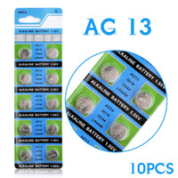 Wholesale lr44 button battery - Hot selling 10 Pcs AG13 LR44 357A S76E G13 Button Coin Cell Battery Batteries 1.55V Alkaline EE6214