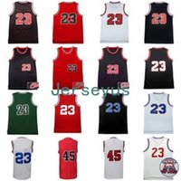 Mens Retro Michael Jerseys # 45 # 23 JD 100% Stitched Throwback Basketball Jerseys Alta qualidade Mix Order Wholesale Hot Sale