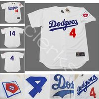 Wholesale Men Weeding - 1951 Customized Brooklyn Dodgers 4 Duke Snider 14 Gil Hodges 42 Jackie Robinson 1 Pee Wee Reese 39 Roy Campanella Throwback Baseball Jerseys