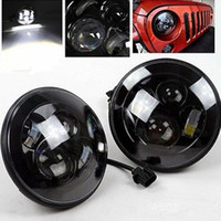 "Wholesale Round Headlamp - For Jeep JK 7"" Round Headlight Led For Jeep Wrangler 97-15 Hummer Toyota Defender 7"" LED Harley Motorcycle Headlamp For Harley"