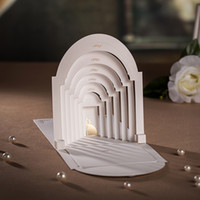 Wholesale Luxurious Palace - Wholesale-White&Red 3D Wedding Invitations Luxurious Vintage Palace Wedding Card with Envelope & Seal Laser Cut wedding decoration