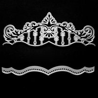 Wholesale Paper Crowns Christmas - Metal craft Crown castle paper die cutting dies for Scrapbooking DIY Christmas wedding Halloween Greeting cards
