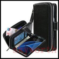 Wholesale magnets iphone for sale - Group buy For iphone S iphone7 Plus Samsung Galaxy S7 Edge Magnet Wallet Leather Zipper Gel inner Case Cover Money Pocket Photo Frame