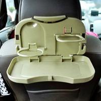 auto rücksitz getränkehalter großhandel-Car Esstisch Klapp Getränkehalter Auto Palette Rücksitz Wasserauto Getränkehalter