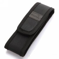 Wholesale Nylon Flashlight Holster Pouch - New Black Nylon Belt Holster Cover Pouch for UltraFire C8 E6 E17 A100 501B 502B LED Flashlight Torch 301 303 Laser Pen