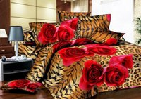 Leopard rose twin volle königin king size Single, doppelbett 3d bettwäsche-sets bettwäsche gesetzt bettbezug blatt Bettwäsche liefert Heimtextilien