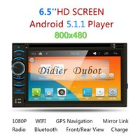 Wholesale 2din Android Car Dvd Player - Quad Core Android 5.1.1 Car DVD Player 2din universal Car GPS Navigation Car Radio Stereo double din with Wifi, 3G,BT,Mirro Link