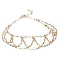Wholesale Mesh Bracelet Tassel - New Arrival Fashion Women Beach Jewelry Barefoot Sandal Ankle Foot Link Mesh Tassel Chain Anklet Bracelet Drop Shipping