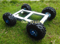 Wholesale Smart Car Toy Wheel - C37 4WD Car, Powerful Motor, Aluminium Alloy Chassis,130mm Big Tyre Wheel, for DIY Smart car, Robot Competition