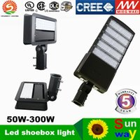 Wholesale shoe brush wholesale - LED shoe box lamp led shoebox for lamp parking lot fashionable latest shoe box led street Meanwell drive ac90-305v 24-300w 5 years warranty