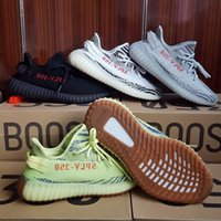 Wholesale Tinted Pvc - 2017 Boost 350 V2 Semi Frozen Yellow Zebra With Gum Soles B37572 Blue Tint Grey B37571 Kanye West Men Women Casual Sneakers