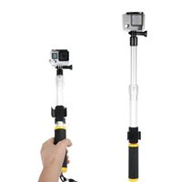 Wholesale Gopro telescopic floaty pole with remote clamp cm For Gopro Hero4s Wi Fi Remote Clip Float with GoPro mounted