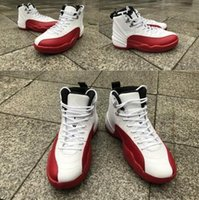 Wholesale Carbon Fiber Usa - With Box Air Retro 12 XII Cherry Red White Man Basketball Shoes 1:1 Best Quality Real Carbon Fiber Wholesale Size USA 8 13 Sneakers