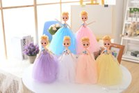 Wholesale Great Kids Clothes - 30cm Princess Doll Evening Party Clothes Wears Dress Mini Girl Doll Kids Toys Great Christmas Gift For Girl Free Shipping