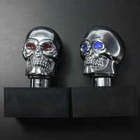 Universal Car Chrome Skull Auto Manual Gear Stick Shift Knob Lever AUP_50E